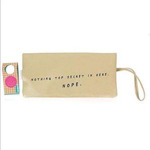 NPW Hidden Flask Clutch Bag Gold Clutch Purse